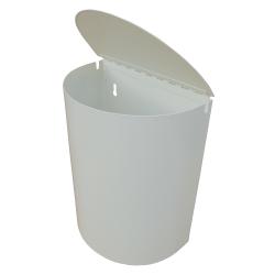 Roska-astia puolipyöreä kannella