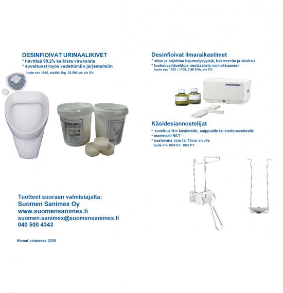 Desinfioivat urinaalikivet